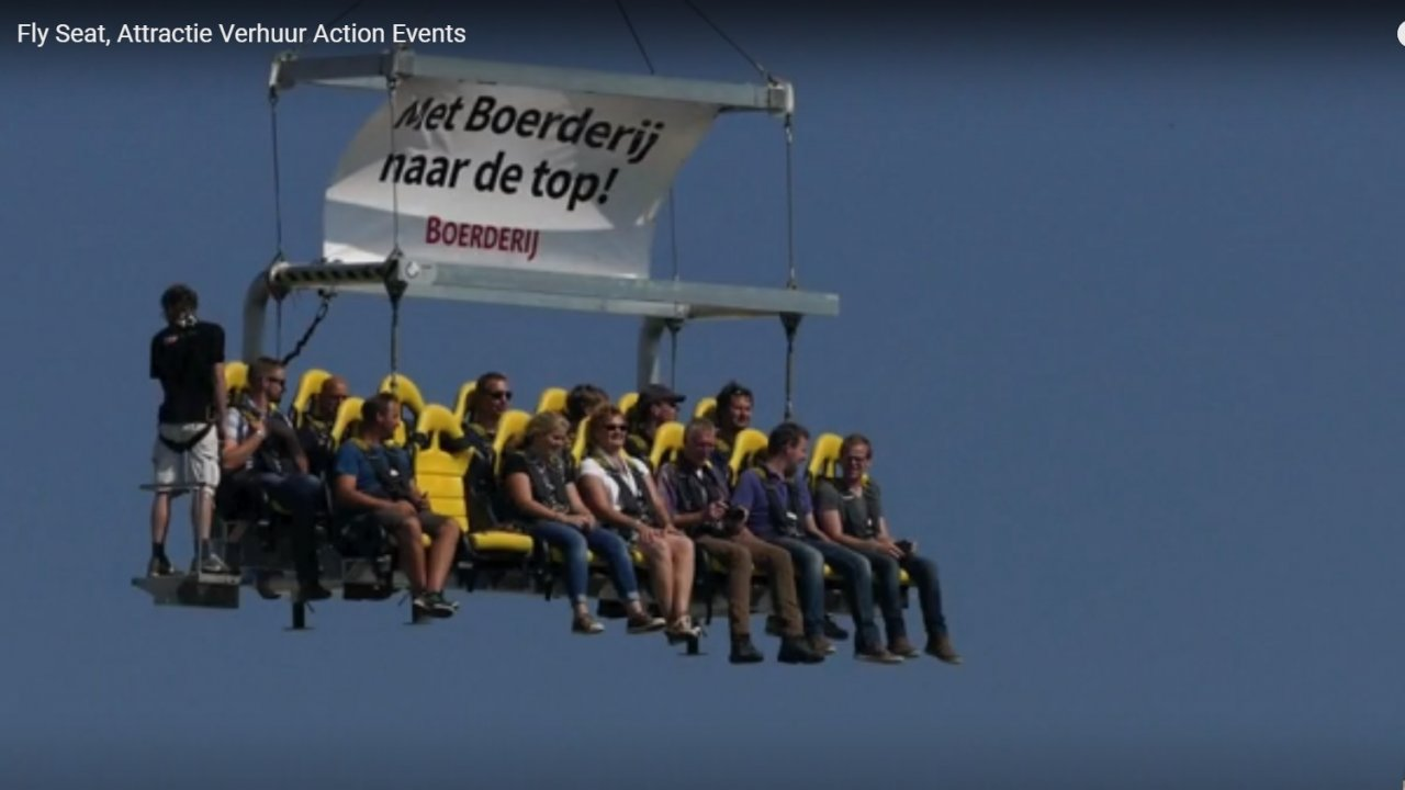 Fly seat huren | Action Events | Verhuur van attracties, stuntshows, winter actie en simulatoren